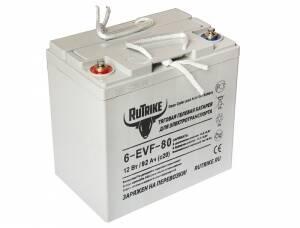 Тяговый гелевый аккумулятор RuTrike 6-EVF-80 (12V80A/H C3)