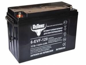 Тяговый гелевый аккумулятор RuTrike 6-EVF-120 (12V120A/H C3)